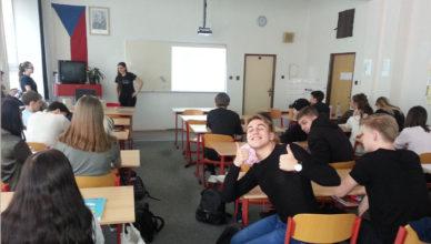 Přednáška studentů Slezské univerzity v rámci hodiny matematiky 2018
