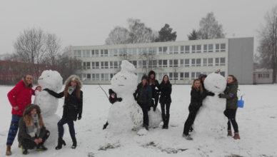 Sněhuláci na OA Ostrava – Poruba