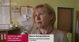 TV NOVA - Vyjádření Marie Katapodisové