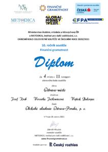 Finenční gramotnost - diplom