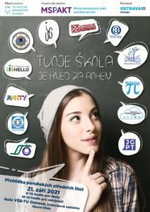 Plakat Tvoje skola je za rohem 2021