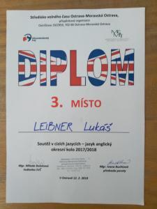 Vynikají úspěch Lukáše Leibnera, 2. C
